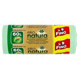 Fino Eko natura rozložitelné pytle na odpadky šetrné k životnímu prostředí 60l 20 ks