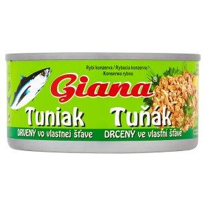 Giana Tuňák drcený 185g, vybrané druhy