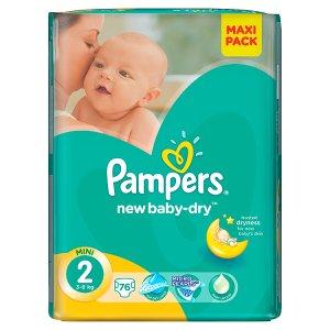 Pampers New Baby-Dry Dětské jednorázové pleny 2 mini 76 ks Albert