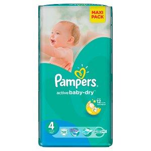 Pampers Active Baby-Dry Dětské jednorázové pleny 4 maxi 58 ks dm drogerie markt