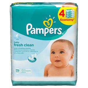 Pampers Vlhčené Ubrousky Baby Fresh Clean 4 x 64 ks Tesco