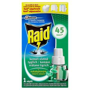 Raid Elektrický odpařovač s eukalyptovým olejem proti komárům náhradní náplň 45 nocí 27ml