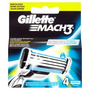 Gillette Mach3 Náhradní hlavice k holicímu strojku 4 ks