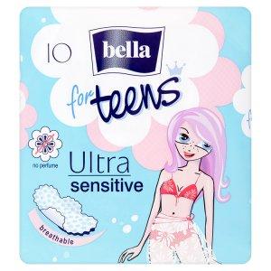 Bella For Teens Ultra sensitive Hygienické vložky - s křidélky á 10 ks