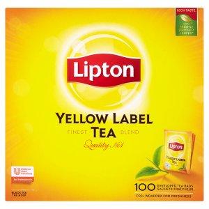 Lipton yellow label černý čaj, vybrané druhy 100 sáčků