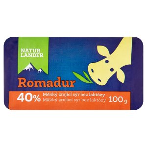 Natur Lander Romadur 40% měkký zrající sýr bez laktózy 100g