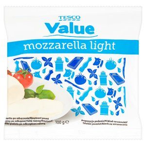 Tesco Value Mozzarella light 100g