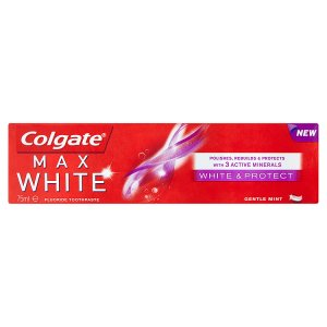 Colgate Max White White & Protect zubní pasta 75ml Teta drogerie