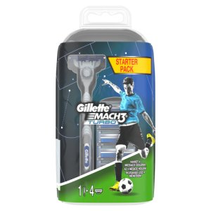 Gillette Mach3 Turbo Holicí Strojek + 4 holicí hlavice Tesco