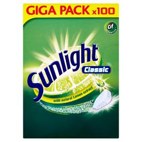 Sunlight Tablety do myčky nádobí 100 ks, vybrané druhy