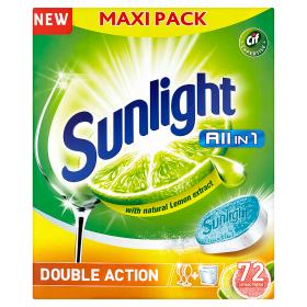 Sunlight Tablety do myčky nádobí 72 ks Tesco
