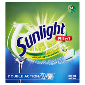 Sunlight Tablety do myčky nádobí 52 ks, vybrané druhy Albert