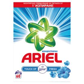 Ariel Touch Of Lenor Prací Prášek 60 dávek