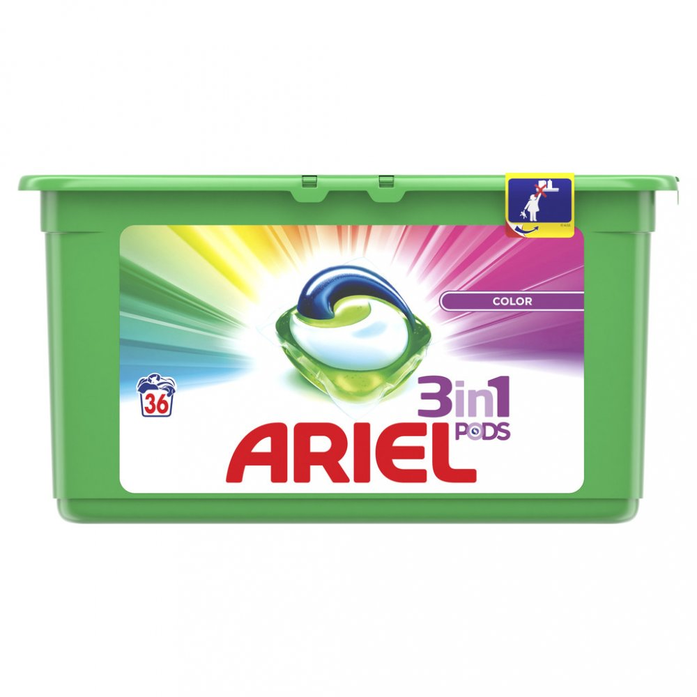 Ariel gelové kapsle 36 ks, vybrané druhy