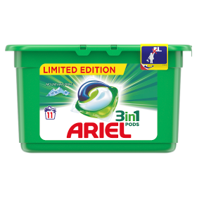 Ariel gelové kapsle 11 dávek, vybrané druhy Ratio