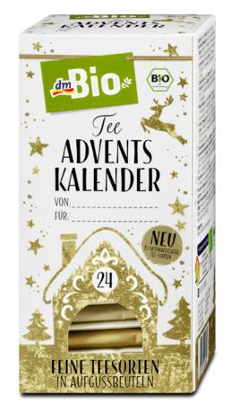 dmBio adventní čajový kalendář 24 sáčků