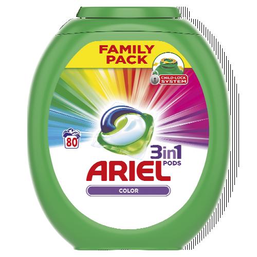 Ariel kapsle na praní 80 dávek, vybrané druhy