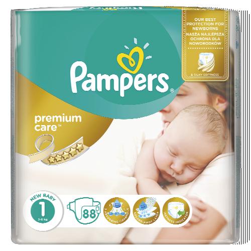 Pampers Premium Care dětské pleny 44-88 ks