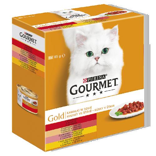 Gourmet Golg 8x 85 g, vybrané druhy