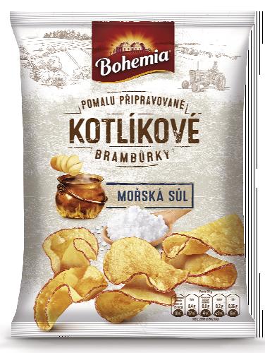 Bohemia Kotlíkové brambůrky 120g