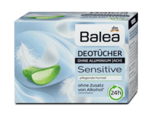 Balea Sensitive deo ubrousky 10 ks dm drogerie markt