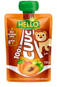 Hello Cuuc ovocná přesnídávka 100g, vybrané druhy Flop