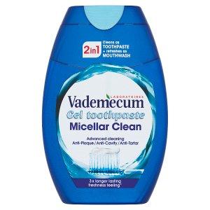 Vademecum gelová zubní pasta 2in1 Micellar Clean 75ml
