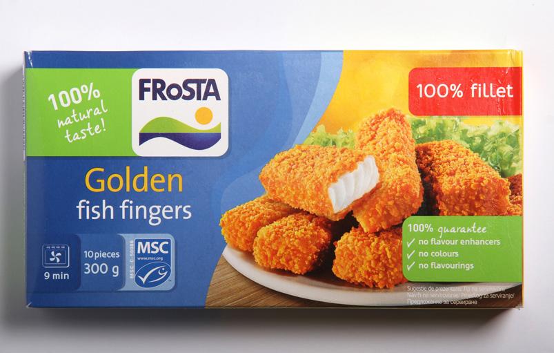 Frosta Golden fish fingers 100% fillet