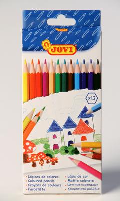 Pastelky Jovi dřevěné nelámavé, 12 kusů