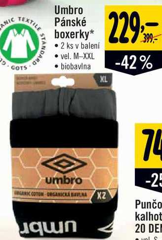 Umbro Pánské boxerky, 2 ks v balení