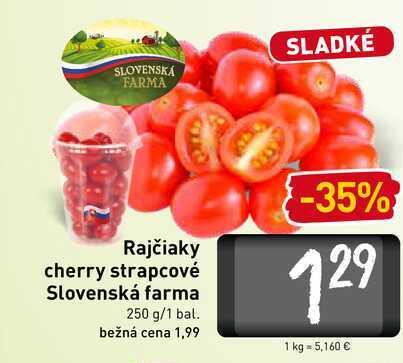 Rajčiaky cherry strapcové Slovenská farma 250 g/1 bal.