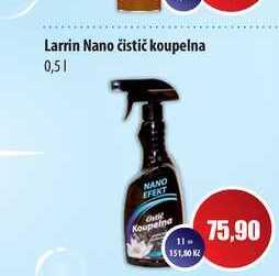 Larrin Nano čistič koupelna 0,5l